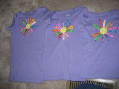 Daisy Girl Scout shirt craft