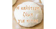 Η καλύτερη ζύμη για πίτσα Μια ζύμη για ονειρεμένες σπιτικές πίτσες! .: Ζύμες .: Ματιά #αλεύρι #ζάχαρη #ζύμη #μαγιά #πίτσα #σιμιγδάλι #matiagr Dairy, Cheese, Prints, Food, Essen, Meals, Yemek, Eten