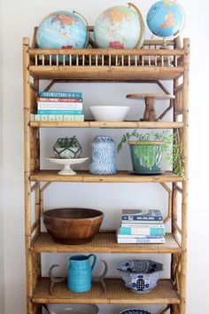 5 Tips to Get Your House Clean + Nurturing the Nest - The Inspired Room Cane Furniture, Bamboo Furniture, Living Room Furniture, Cane Shelf, Bookcase Styling, Bookshelf Design, Outdoor Furniture Plans, Home Decor Bedroom, Room Decor