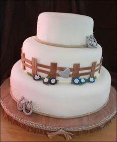 Western Horseshoe Wedding Cake | 2blue dogs' blog