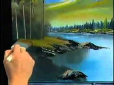 Bob Ross and  The Joy of Painting   Follow the lay of the land from DVD ...