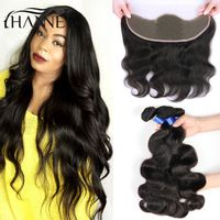 Peruvian Lace Frontal Closure With Bundles 8A Peruvian Body Wave Bundles with…