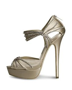 Jimmy Choo Sparkle Stiletto Sandal €1,495 Spring 2014 #Shoes #JimmyChoo