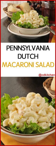 A creamy, tangy barbecue classic. Hard boiled eggs and salad dressing turn ordinary macaroni into a silky treat while celery and onions add that perfect crunch. Macaroni Salad With Ham, Homemade Macaroni Salad, Amish Macaroni Salad, Classic Macaroni Salad, Macaroni And Cheese Salad Recipe, Easy Salad Recipes, Side Dish Recipes, Pasta Recipes, Detox Recipes