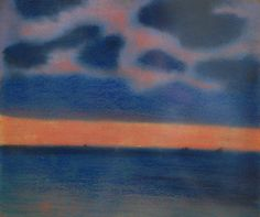 [ S ] Léon Spilliaert - Seascape in blue and red (1906)