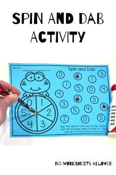 Teach your students to recognize numbers to 10 with these 16 fun math activities! Children should spin the spinner, say the number which it lands on and then complete the activity. Number Recognition Activities, Fun Math Activities, Hands On Learning, Learning Activities, Number Spinner, Bingo Dabber, Learning Numbers, 2nd Grade Math, Kindergarten Teachers