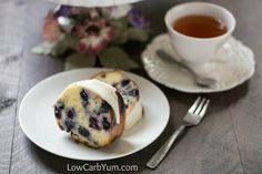 Have company coming or need something for a special brunch? This low carb gluten free lemon blueberry pound cake recipe is sure to please all!