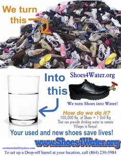 Shoes4Water.org is a ministry of Global Christian Fellowship, a non-profit 501(c) 3 charity, working to alleviate as much human suffering as possible and in the process, maximize fun. Global Christian Fellowship was started by Pastor Samuel Kioko of Sonpoint Baptist Fellowship in Greenville ,SC. Pastor Samuel is Kenyan. The Project's work provides affordable shoes in the developing world, life-giving, fresh, clean drinking water to those in need.