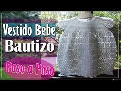 Vestido Bebe En Crochet Para Bautizo - Parte 2 de 2 - YouTube