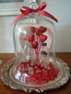 Cloche Dome Valentine Decor - love it!