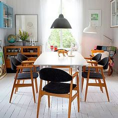 those chairs...via inspirational spaces