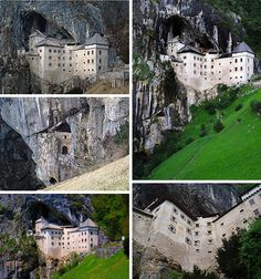 Predjama Castle, Slovenia  -a castle built within a cave dating back to at least 1274  -with at least 700 years of violent history, this castle is known to be extremely haunted