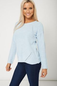Ladies Chunky Knitted Long Sleeve Jumper Sweater