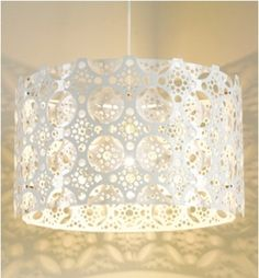 """""""lace"""" pendant light by bernabei & freeman Moroccan Lighting, I Love Lamp, Beautiful Lights, Simply Beautiful, White Bedding, Paper Lanterns, Drum Shade, My New Room, Light And Shadow"""