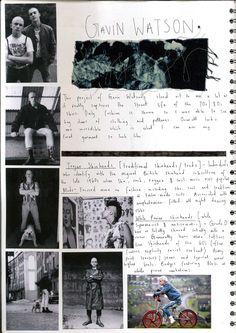 Artist reference Gavin Watson. Sketchbook
