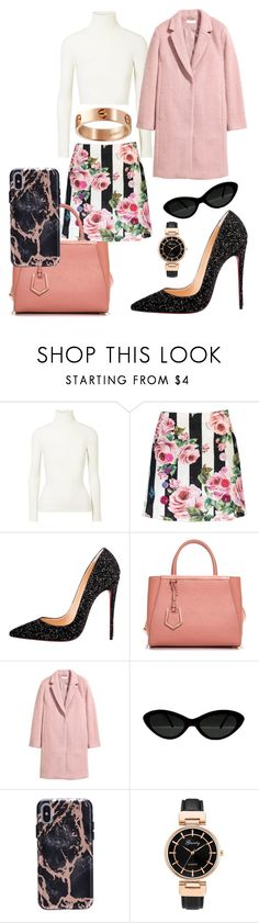 """""""Untitled #1365"""" by nawalmarhoume ❤ liked on Polyvore featuring JoosTricot, Dolce&Gabbana, Christian Louboutin, Fendi and Cartier"""