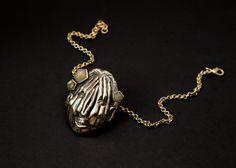 """Hidden """"limited edition"""" brass pendant charm necklace rutilated quartz BISJOUX : pure"""