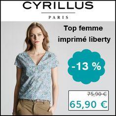 #missbonreduction; 13 % de réduction sur le Top femme imprimé liberty chez Cyrillus.http://www.miss-bon-reduction.fr//details-bon-reduction-Cyrillus-i228-c1831451.html