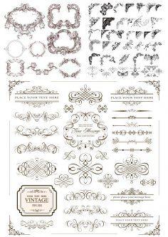 Decorative Elements Vectors Free Vector Cdr Download Download