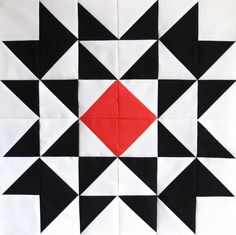 star block-cool contrast, reminds me of lauras quilt