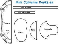 Mini Converse de foamy para dar de recuerdo en celebraciones | Aprender manualidades es facilisimo.com