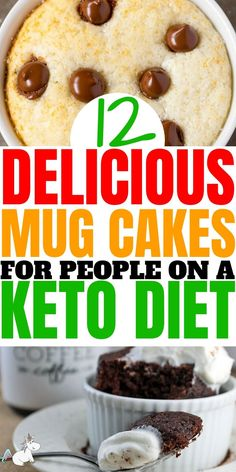 These keto mug cakes will help you stay in ketosis & satisfy your sweet tooth easily with recipes from keto cinnamon roll mug cake to keto vanilla mug cake! Low Carb Meal Plan, Low Carb Lunch, Low Carb Dinner Recipes, Low Carb Breakfast, Low Carb Desserts, Keto Recipes, Cake Recipes, Dessert Recipes, Healthy Desserts