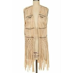 Fringe Benefits Vest Beautiful bohemian vest with fringe & bead detail. Length is about midway down thigh. Looks absolutely amazing with pretty much anything! True to size.  *30% bundle discount! *Price Firm boutique Tops