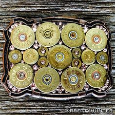 'Texas' Biggest Bodacious Bullet Buckle with Antique Pink Swarovski Cr – Prettyhunter.com