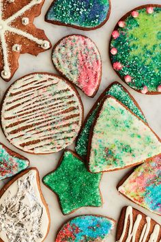 Vegetable Pajeon (Korean Scallion Pancakes With Vegetables) Recipe - NYT Cooking Cookie Box, Cookie Icing, Cookie Dough, Gingerbread Cookies, Christmas Cookies, Christmas Jingles, Christmas Desserts, Colored Sugar, Kinds Of Cookies