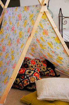 Need to make this for the boys so that the house doesn't get destroyed by all of the pillows, sheets, and blankets S. uses to make forts.