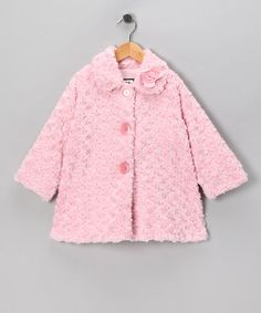 Take a look at this Pink Twist Sweet Pea Coat - Infant, Toddler & Girls by Corky & Company on #zulily today!