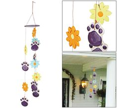Purple+Paw+&+Flowers+Chime+at+The+Animal+Rescue+Site