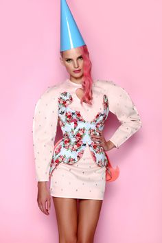 Powder pink dress & printed corset ANA LJUBINKOVIC f/w 2012/13 #ana_ljubinkovic