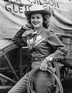 Retro Stampede Glam! Patsy Rodgers, First Calgary Stampede Queen, June 1946. #ATBxPBFashionRoundup @ATB Financial @Poppy Barley @Ania B