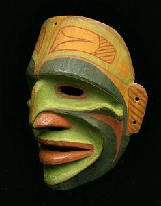 Bella Bella Ceremonial Mask, Pacific Northwest Coast Native American Indian Art Arte Haida, Haida Art, African Masks, African Art, Art Inuit, Native American Masks, Art Premier, Beautiful Mask, Masks Art