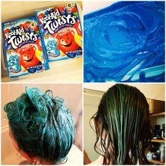 Dyeing Hair with Kool Aid – Mermaid hair « A Stash Addict