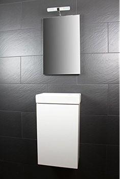 Fancy Galdem Bad Set CUBE G ste WC Set G stebad Badm bel Waschbecken Unterschrank Keramikwaschbecken Waschtisch Spiegel Beleuchtung