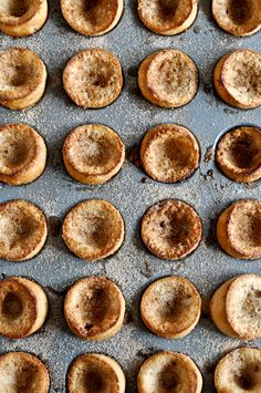 Mini cinnamon sugar popovers. They're mini. They're cooked in a mini muffin tin. That way you can eat 20 and it equals one big one. Win win.