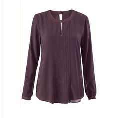 Cabi Entice blouse Beautiful lined burgundy blouse CAbi Tops Blouses