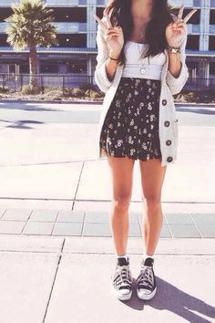 outfits con faldas skater 2016 - Buscar con Google