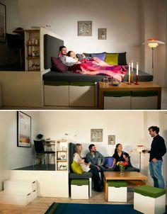 Fold-Out Room: 12 Ultra-Compact Living Pods