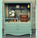 old entertainment center turned into a potting shed, outdoor furniture, painted furniture, repurposing upcycling Furniture Projects, Furniture Makeover, Home Projects, Diy Furniture, Armoire Makeover, Outdoor Furniture, Outdoor Projects, Bathroom Furniture, Repurposed Furniture