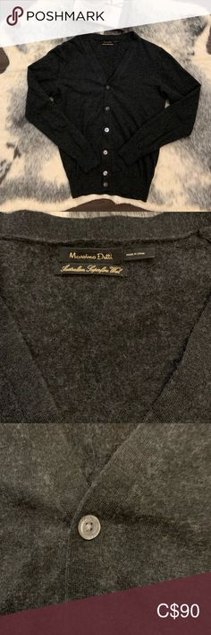 Massimo Dutti Australian Wool & Cashmere Cardigan Made out of Australian superfine wool, silk and cashmere (see last picture) , this easily will be the softest and most luxurious cardigan you'll own. Neutral dark grey colour will go every colour combo.   It is in perfect condition Massimo Dutti Sweaters Cardigans Cashmere Cardigan, Sweater Cardigan, Dark Grey Color, Colour Combo, Cardigans, Neutral, Sweaters For Women, Silk, Wool