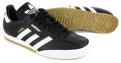 finest selection 6ab35 d6f1b Adidas Samba Super Black Textile Leather Indoor Soccer Shoes Trainers -  Black White - UK SIZE 7