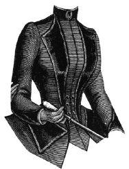 1887 Cloth Jacket with Velvet Lapels Pattern