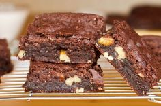 Vegan and Gluten-Free brownies. Really great recipe, went over very well with coworkers of all dietary styles.