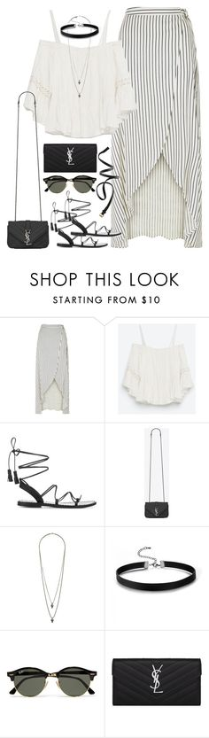 """Untitled#4371"" by fashionnfacts ❤ liked on Polyvore featuring New Look, Zara, Anine Bing, Yves Saint Laurent, Wallis, Ray-Ban and H&M"