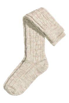Calcetines en mezcla de lana: Calcetines en punto trenzado de mezcla de lana…