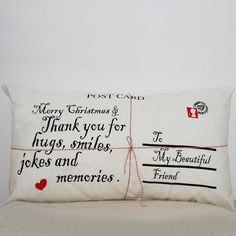 personalised postcard cushion cover by minna's room | notonthehighstreet.com
