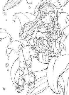 Coloring Book Art, Cute Coloring Pages, Animal Coloring Pages, Adult Coloring Pages, Easy Love Drawings, Dark Art Drawings, Drawing Art, Lineart Anime, Book Flowers
